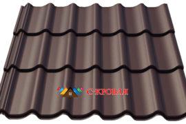 металлочерепица монтеррей 8019 коричневая