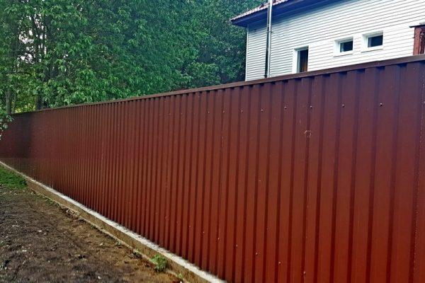 профнастил пс-15 коричневый глянцевый 8017