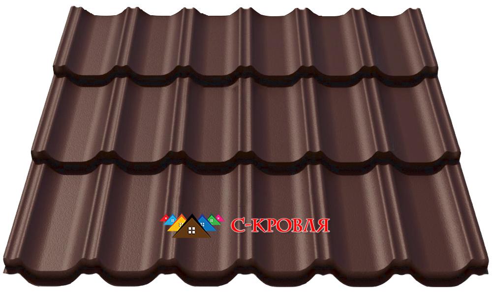 металлочерепица максима 8017 коричневая