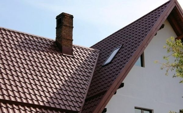 Металлочерепица валенсия на крыши коричневая
