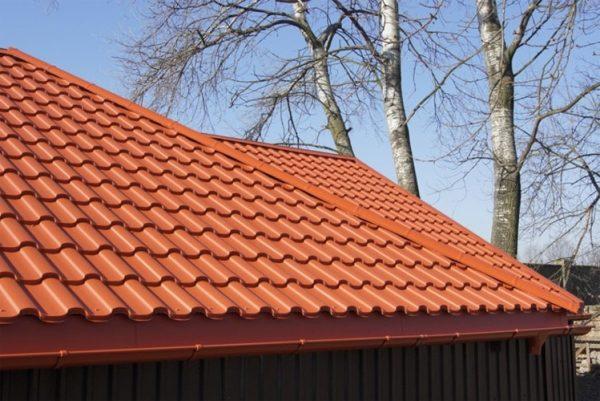 Металлочерепица валенсия на крыши теракотовая