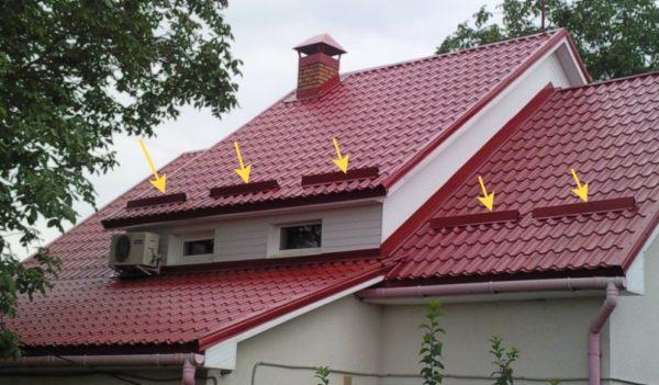 снегодержатель на крыше картинка