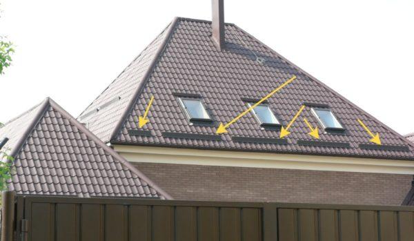 снегодержатель на крыше фото