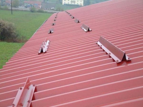 снегодержатель на крыше