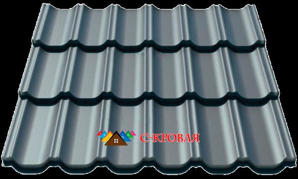 металлочерепица максима 7024 серый графит