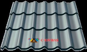 металлочерепица монтеррей 7024 серый графит