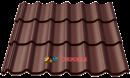 металлочерепица монтеррей 8017 мат коричневый