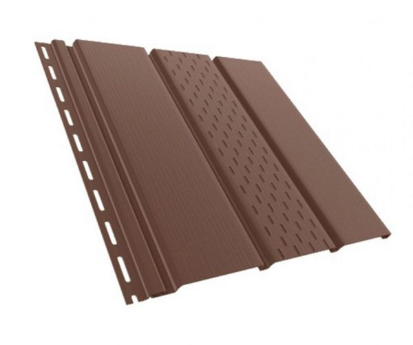 софит бриза коричневый с перфорацией