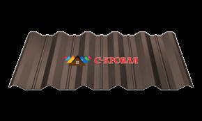 профнастил пк-45 темно-коричневый 8019