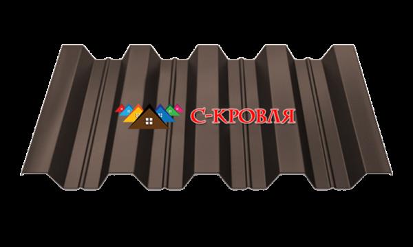 профнастил пк-57 темно-коричневый 8019