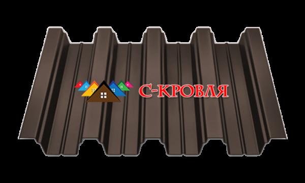 профнастил пк-75 8019 темно коричневый