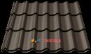 металлочерепица монтеррей темно коричневая рал 8019 мат